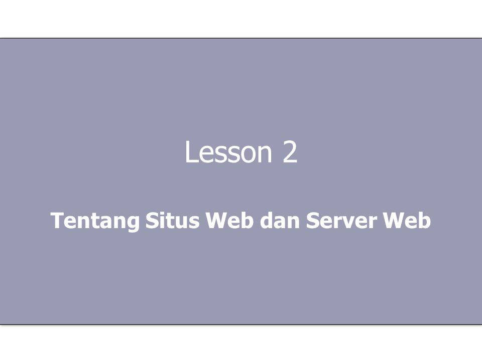 Tentang Situs Web dan Server Web