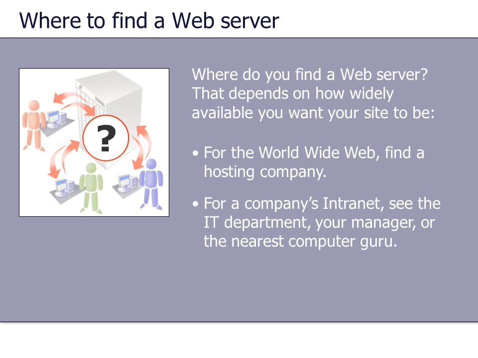 Where to find a Web server