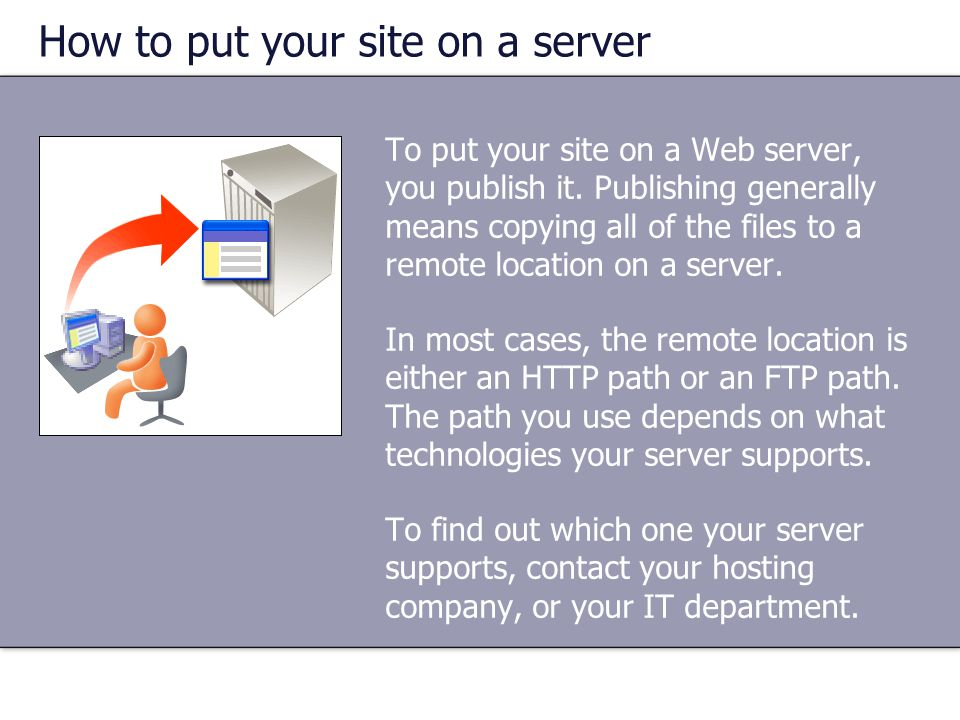 How to put your site on a server