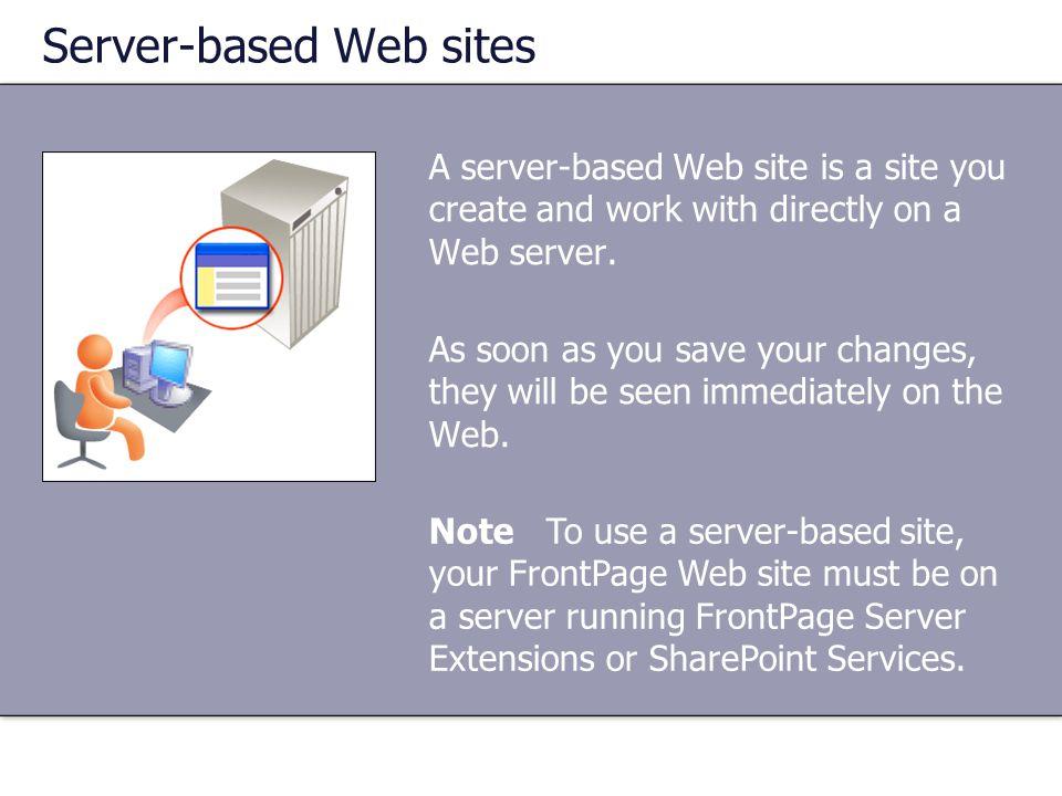 Server-based Web sites