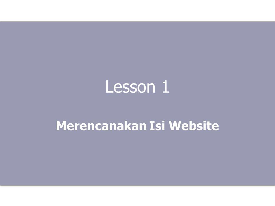 Merencanakan Isi Website