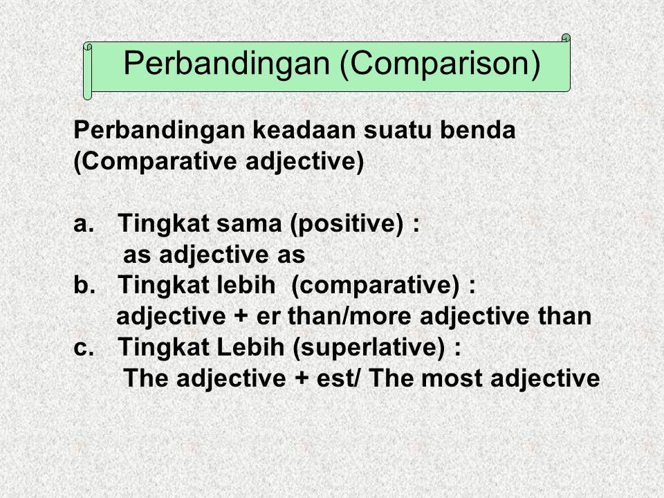 Perbandingan (Comparison)