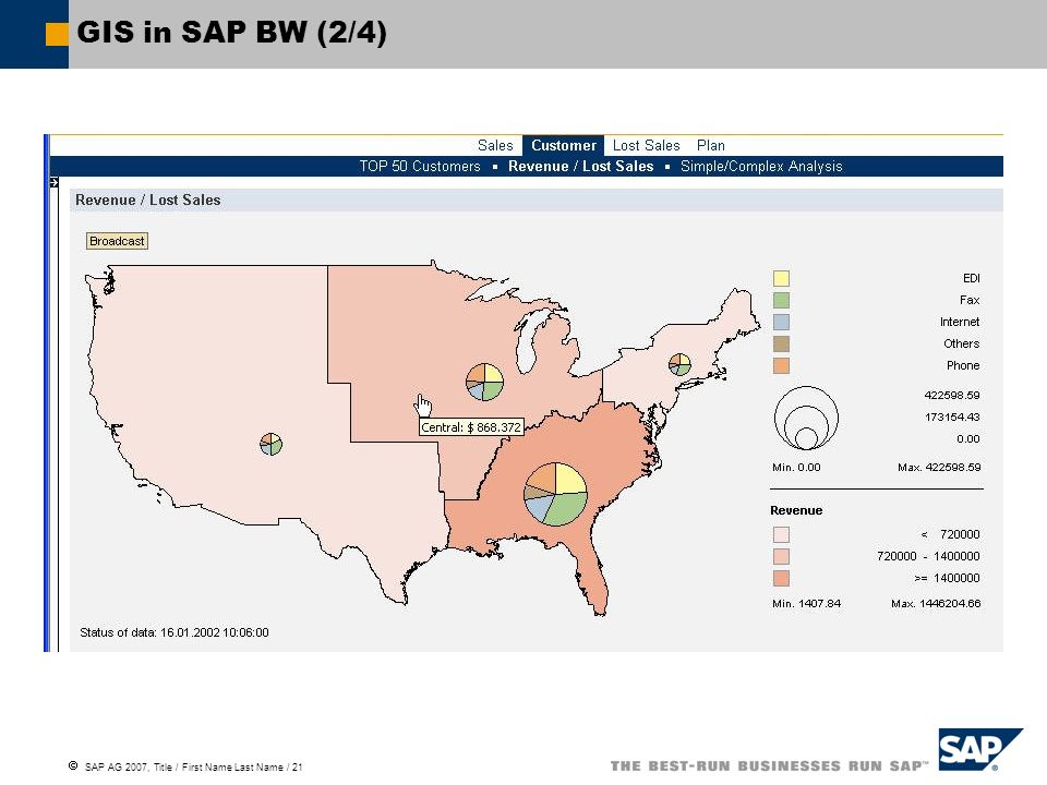 GIS in SAP BW (2/4)