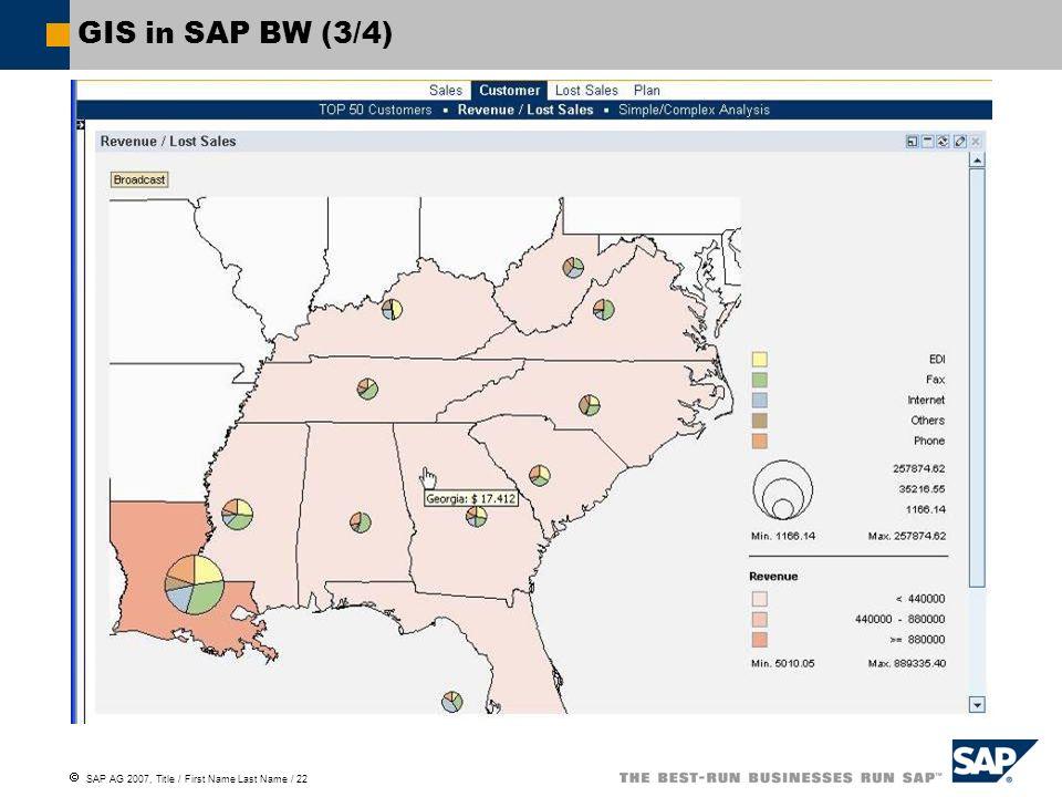 GIS in SAP BW (3/4)