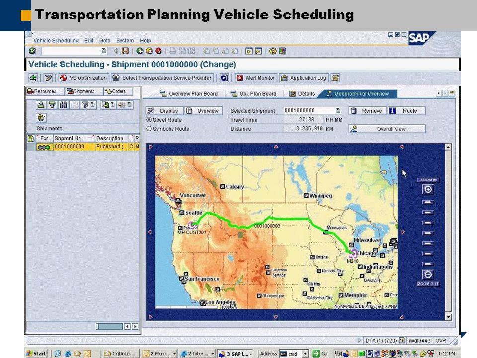 Transportation Planning Vehicle Scheduling