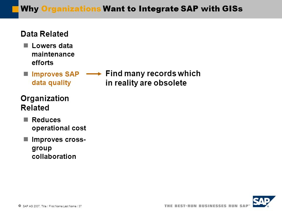 Why Organizations Want to Integrate SAP with GISs