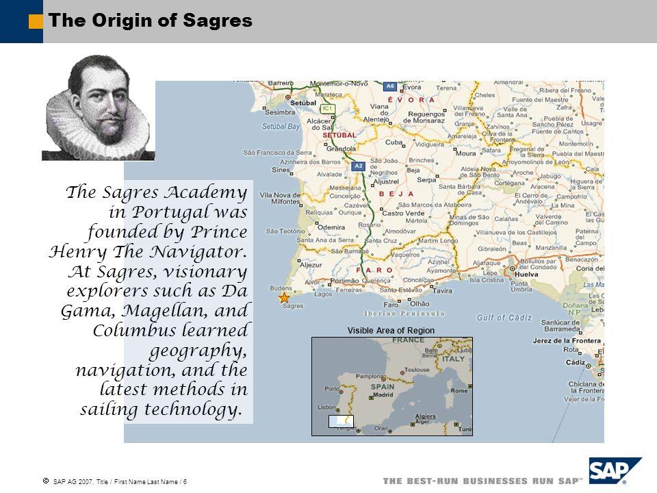 The Origin of Sagres
