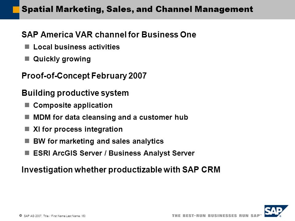 Spatial Marketing, Sales, and Channel Management