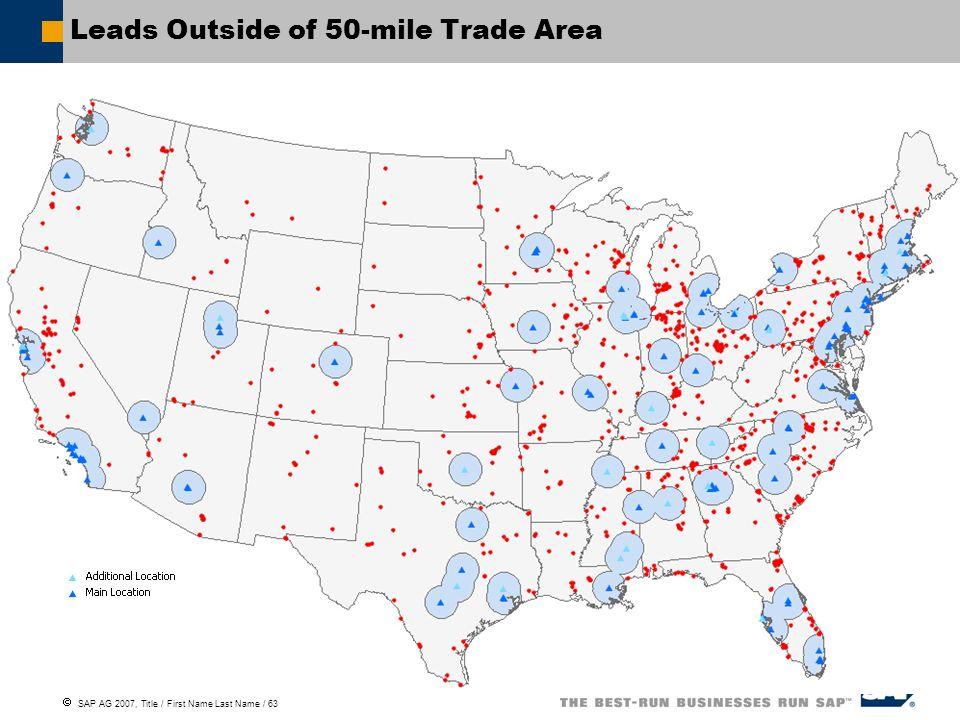 Leads Outside of 50-mile Trade Area