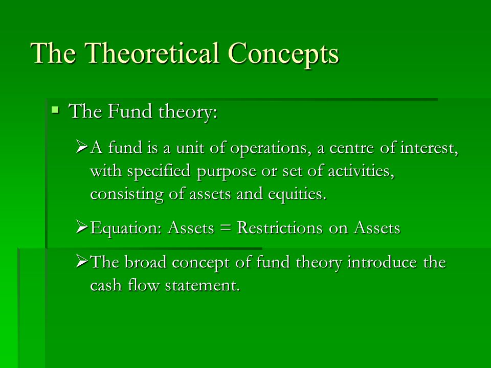 The Theoretical Concepts