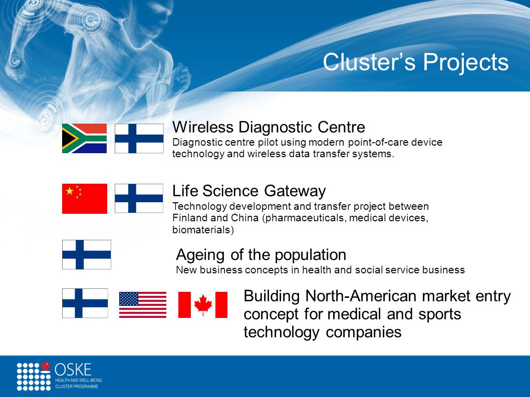 Cluster's Projects Wireless Diagnostic Centre Life Science Gateway