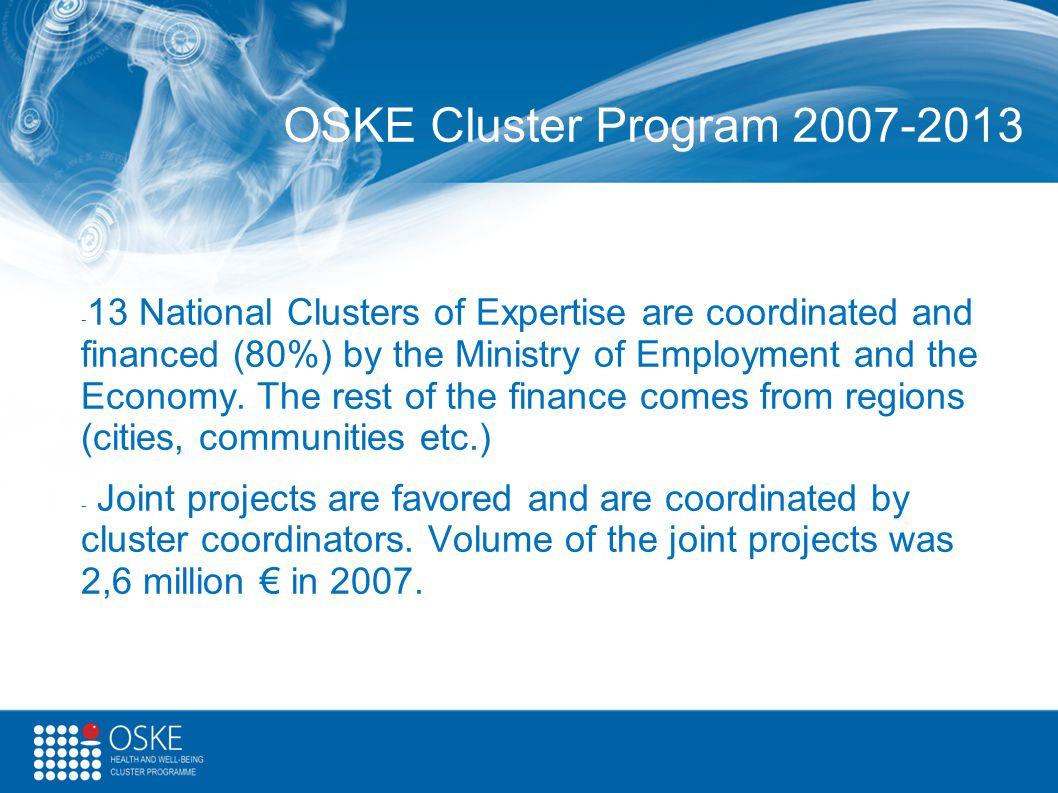 OSKE Cluster Program 2007-2013