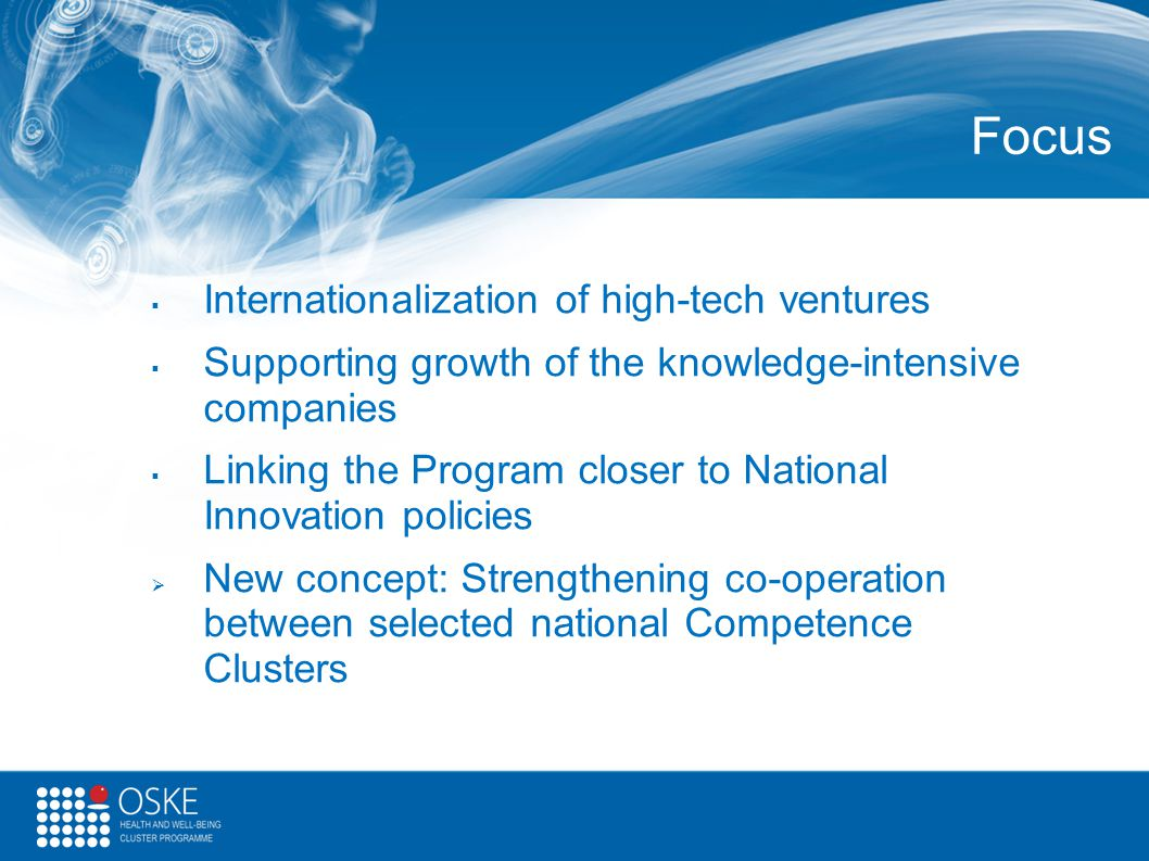 Focus Internationalization of high-tech ventures