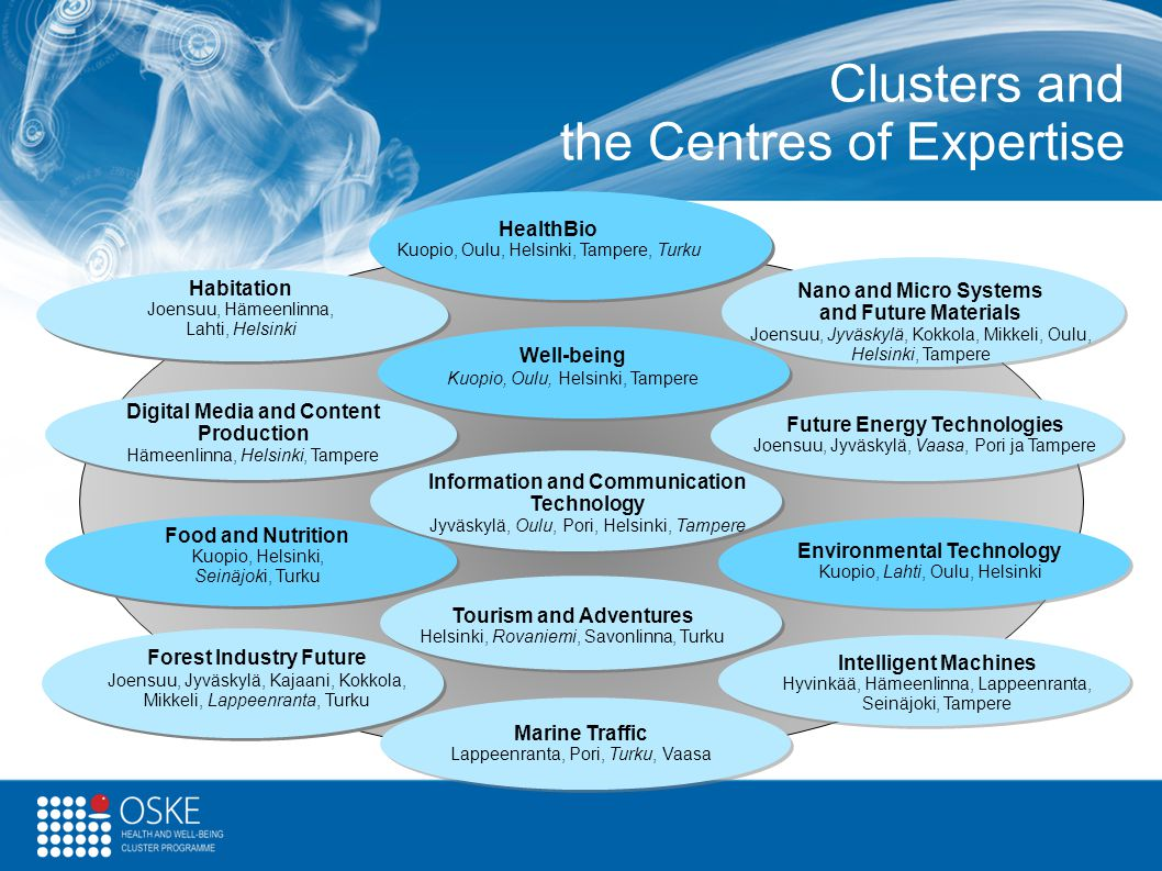 Clusters and the Centres of Expertise