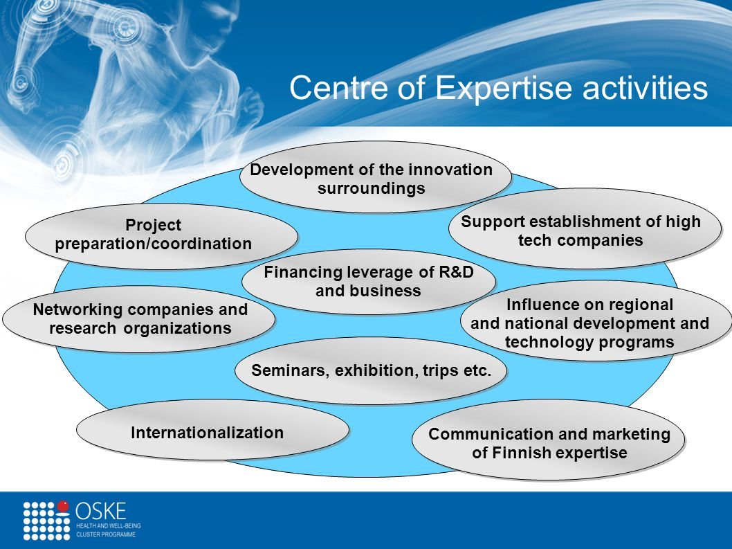 Centre of Expertise activities