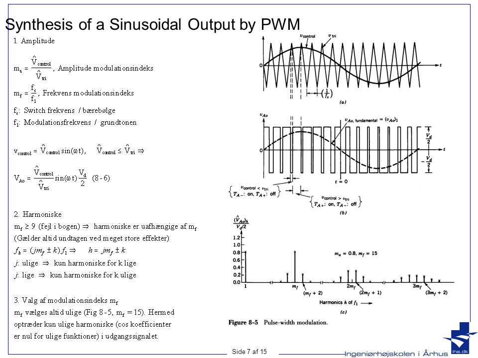 Synthesis of a Sinusoidal Output by PWM