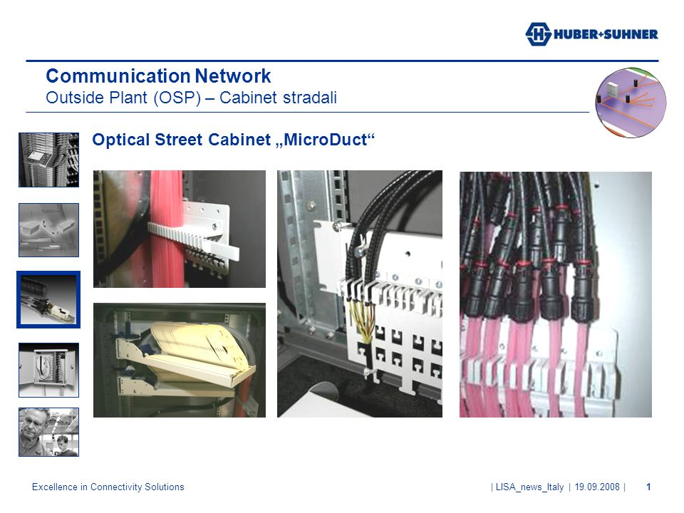 Communication Network Outside Plant (OSP) – Cabinet stradali