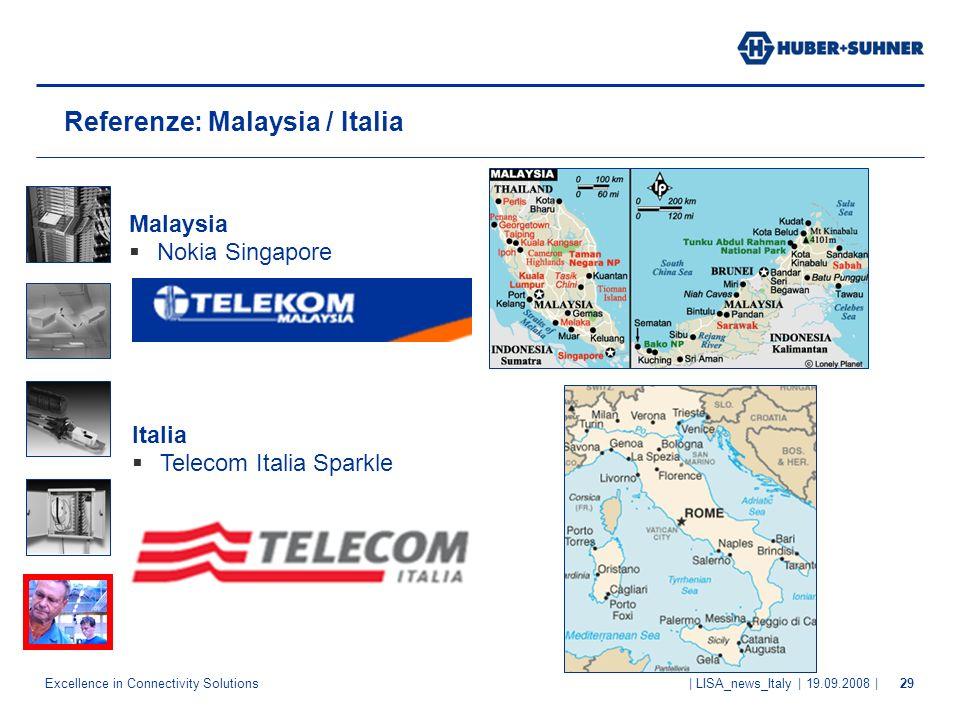 Referenze: Malaysia / Italia