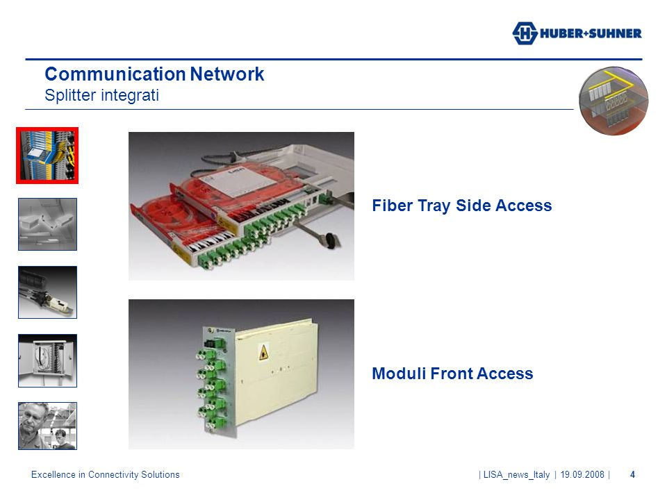 Communication Network Splitter integrati