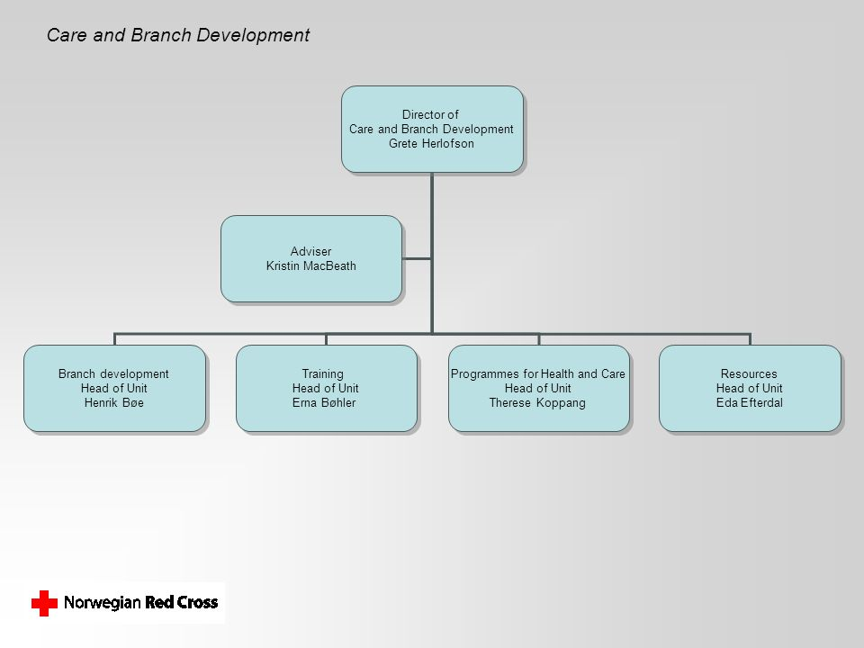 Care and Branch Development