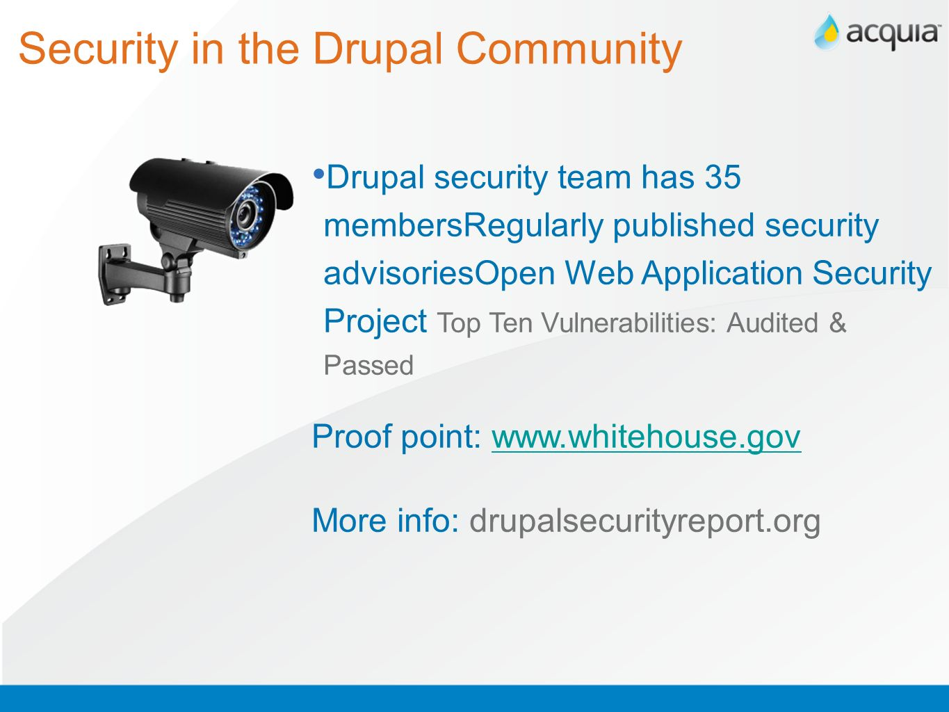 Security in the Drupal Community