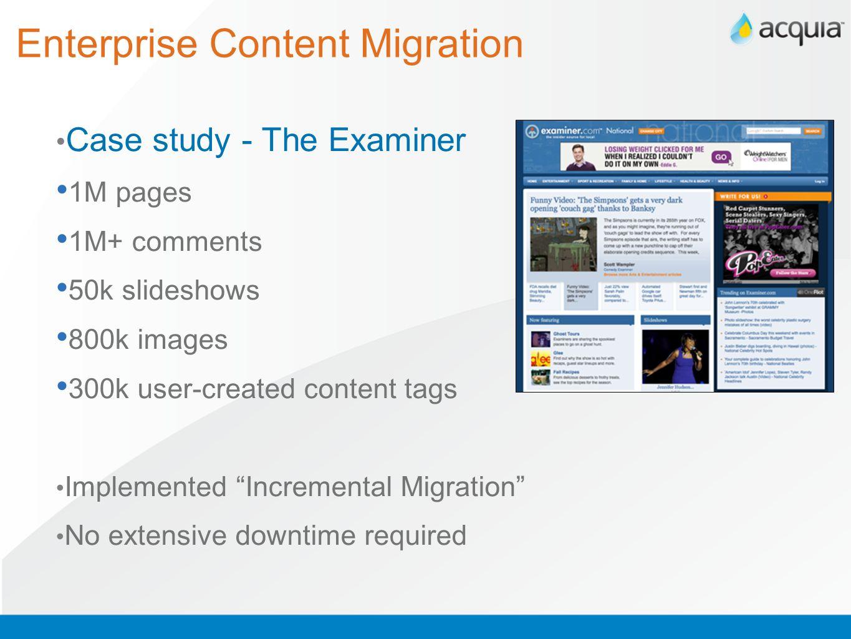 Enterprise Content Migration