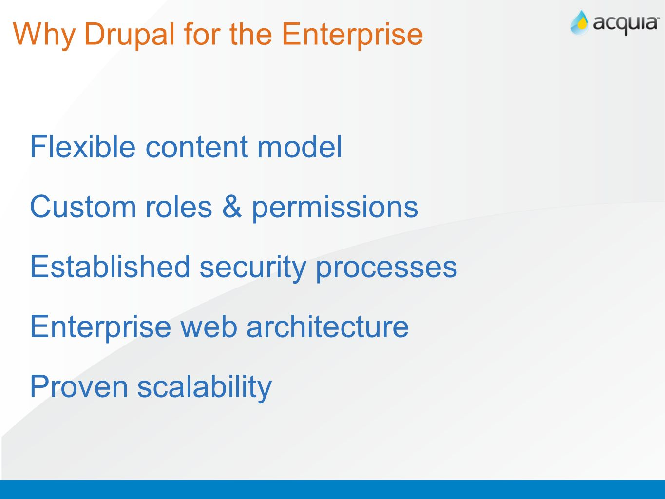 Why Drupal for the Enterprise