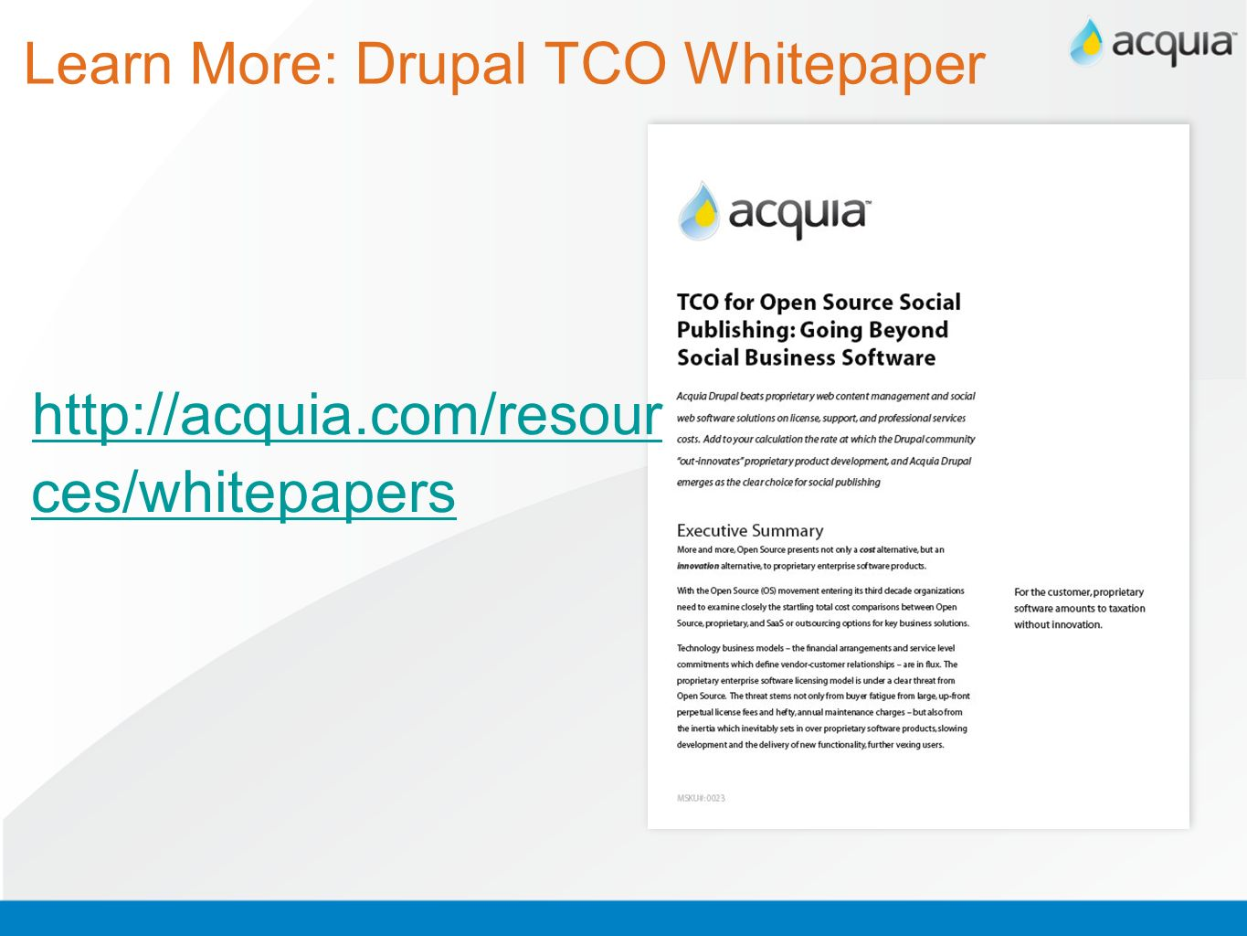 Learn More: Drupal TCO Whitepaper