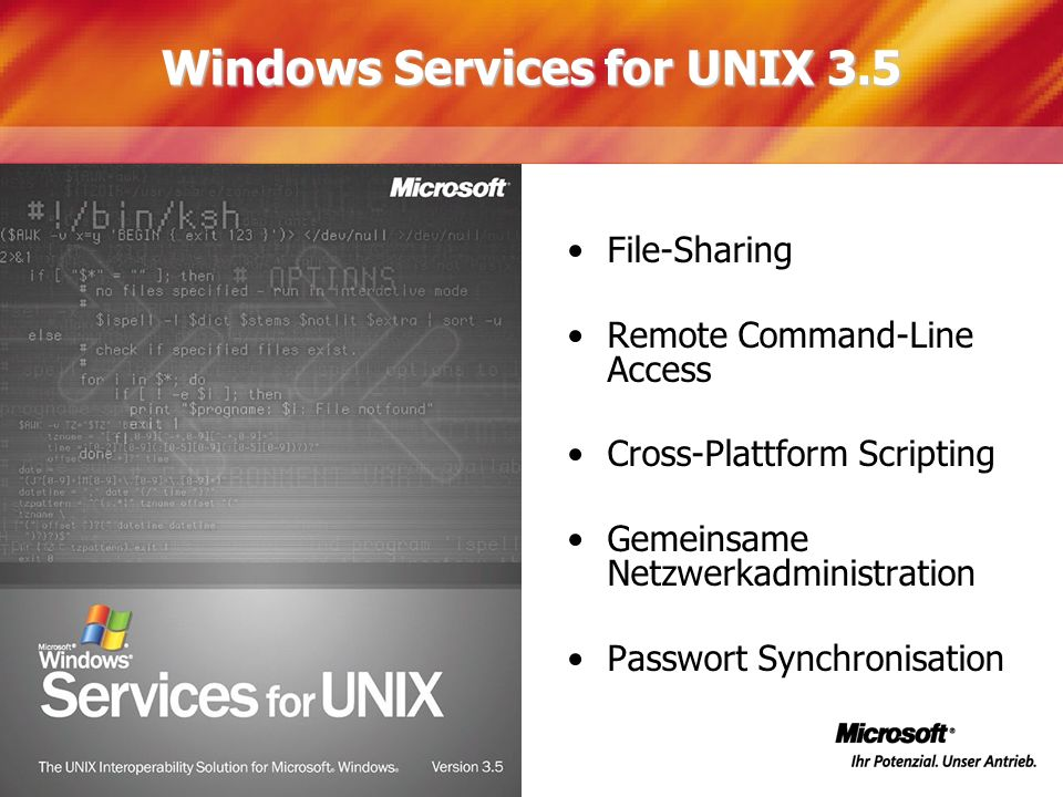 Windows Services for UNIX 3.5