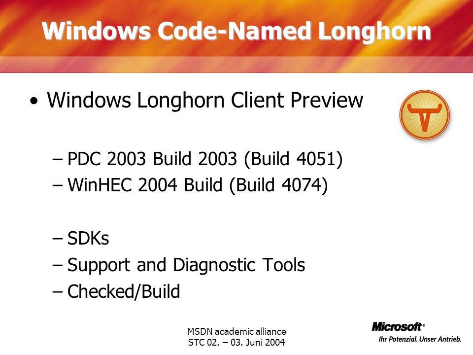 Windows Code-Named Longhorn