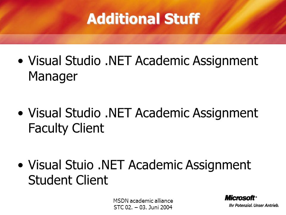 MSDN academic alliance