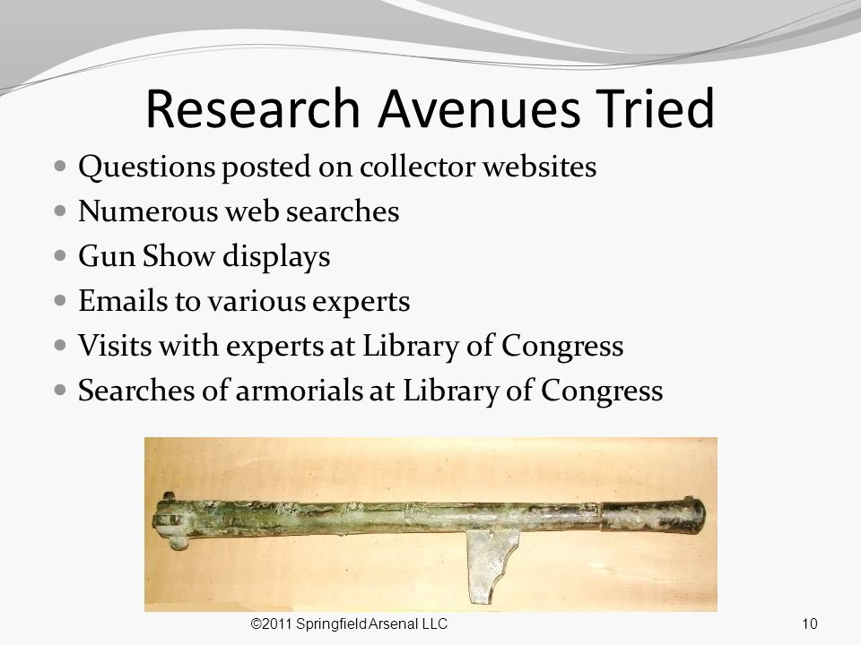 Research Avenues Tried