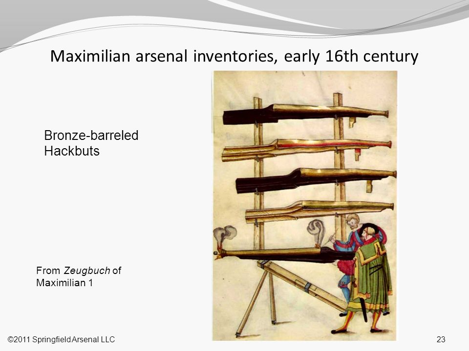 Maximilian arsenal inventories, early 16th century