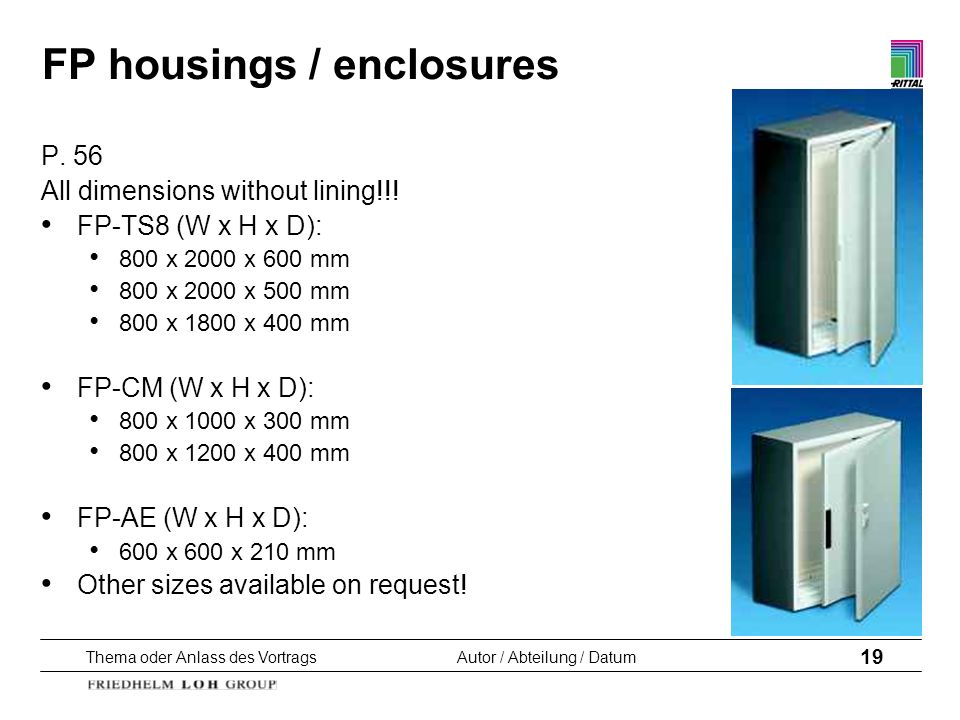 FP housings / enclosures