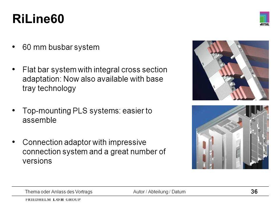 RiLine60 60 mm busbar system
