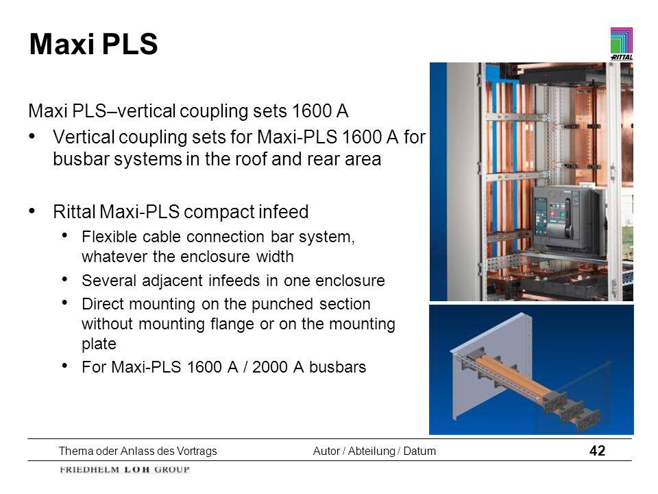 Maxi PLS Maxi PLS–vertical coupling sets 1600 A