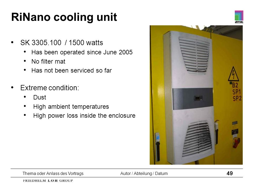 RiNano cooling unit SK / 1500 watts Extreme condition: