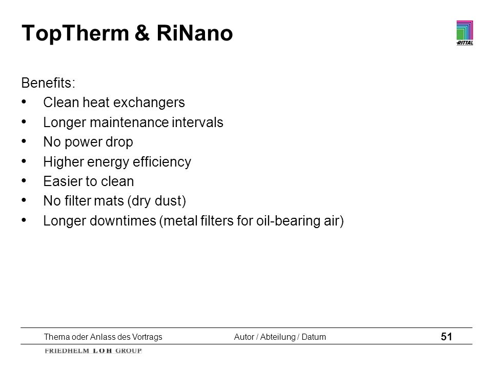 TopTherm & RiNano Benefits: Clean heat exchangers