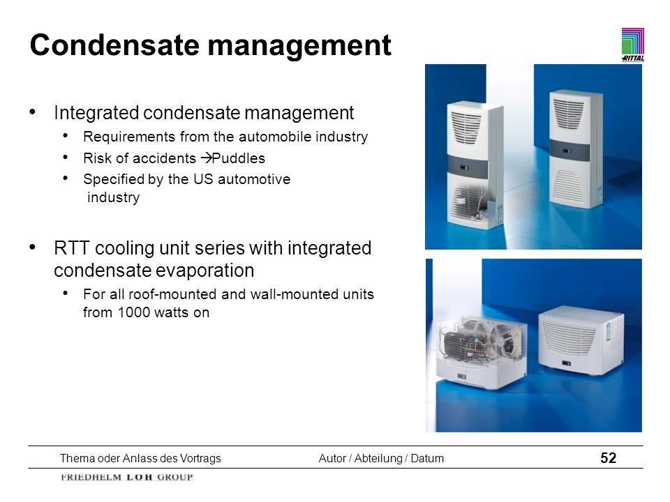 Condensate management