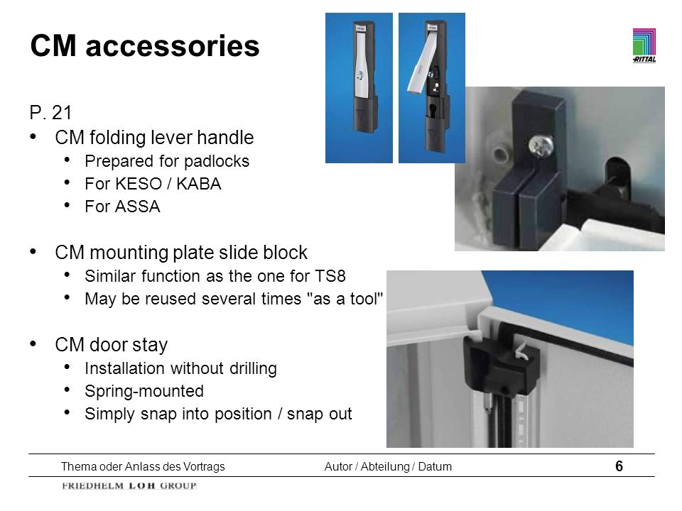 CM accessories P. 21 CM folding lever handle