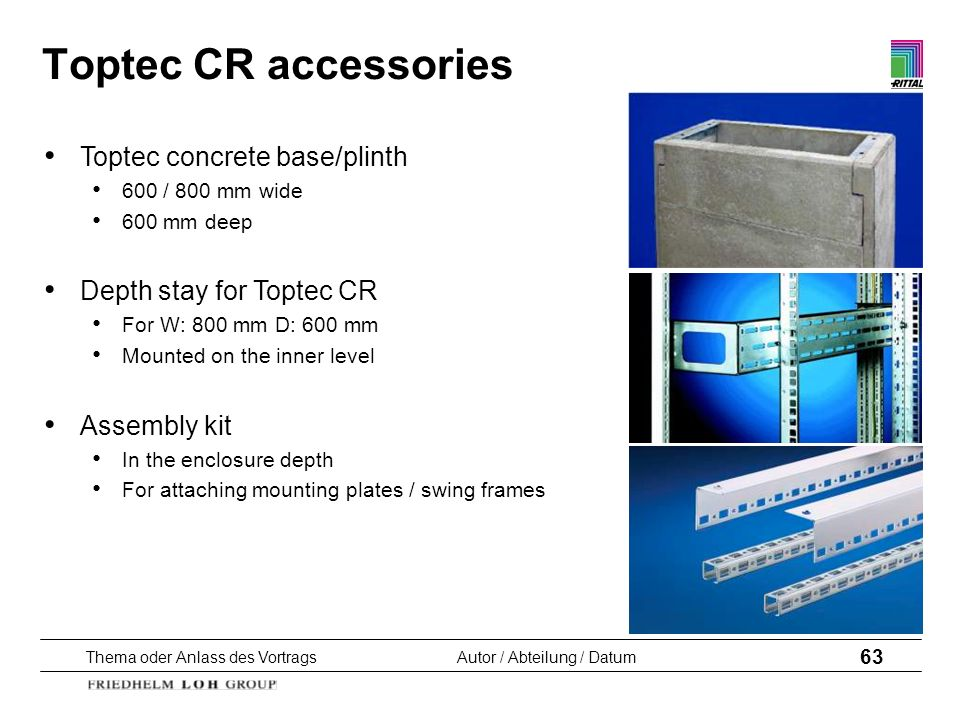 Toptec CR accessories Toptec concrete base/plinth