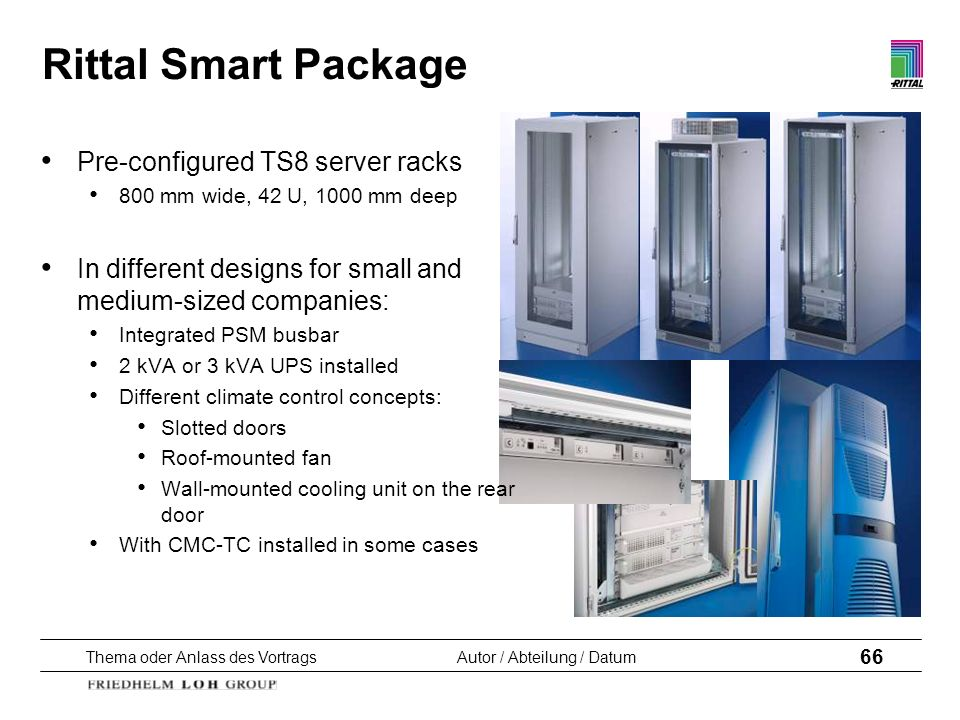 Rittal Smart Package Pre-configured TS8 server racks