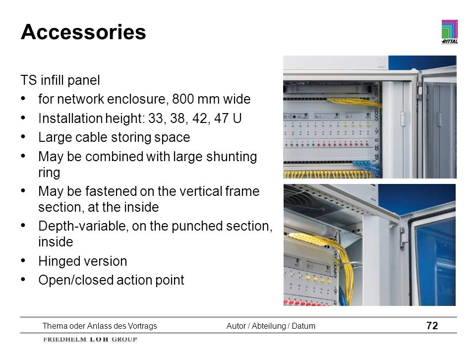 Accessories TS infill panel for network enclosure, 800 mm wide