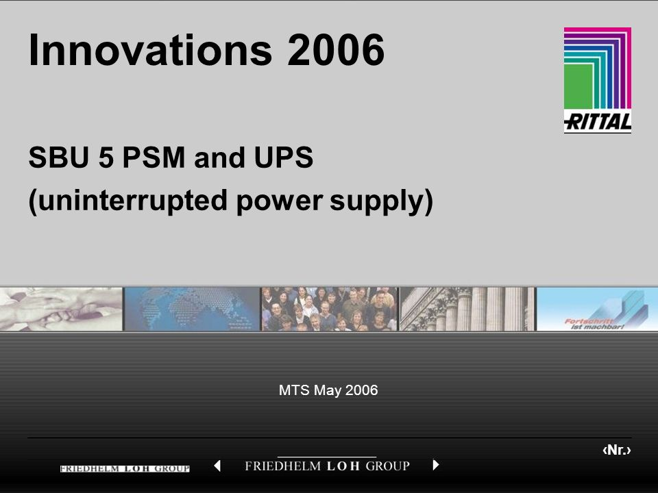 SBU 5 PSM and UPS (uninterrupted power supply)