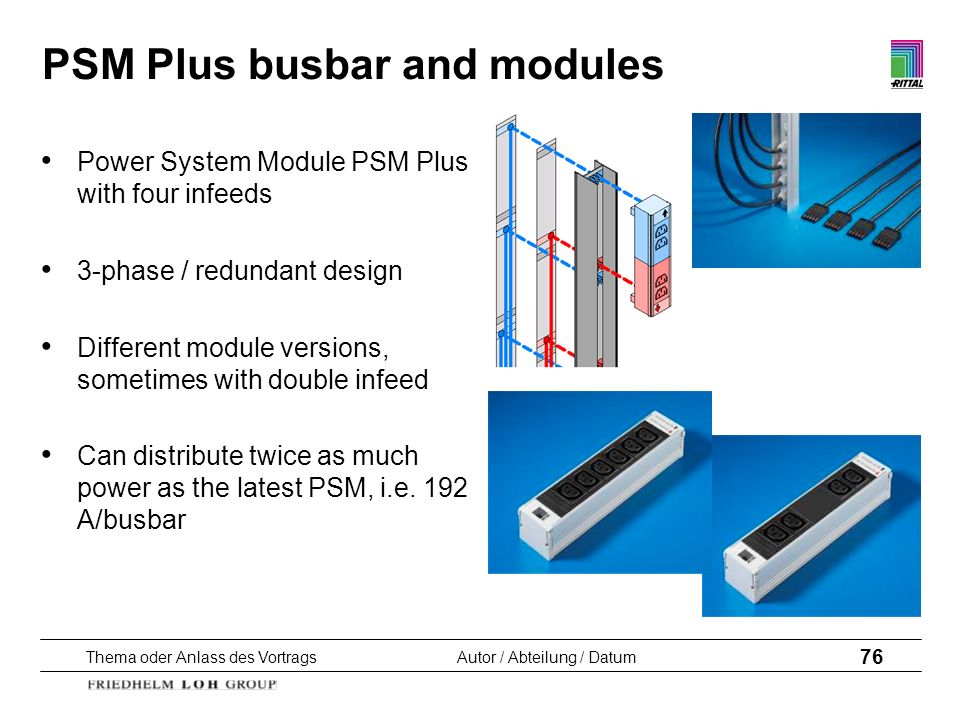 PSM Plus busbar and modules