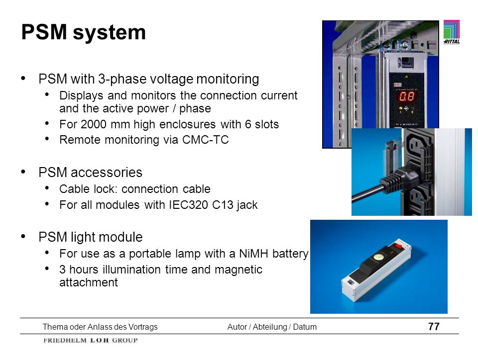 PSM system PSM with 3-phase voltage monitoring PSM accessories