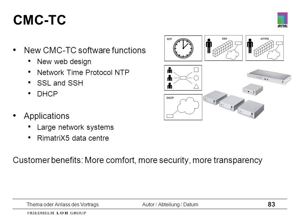 CMC-TC New CMC-TC software functions Applications