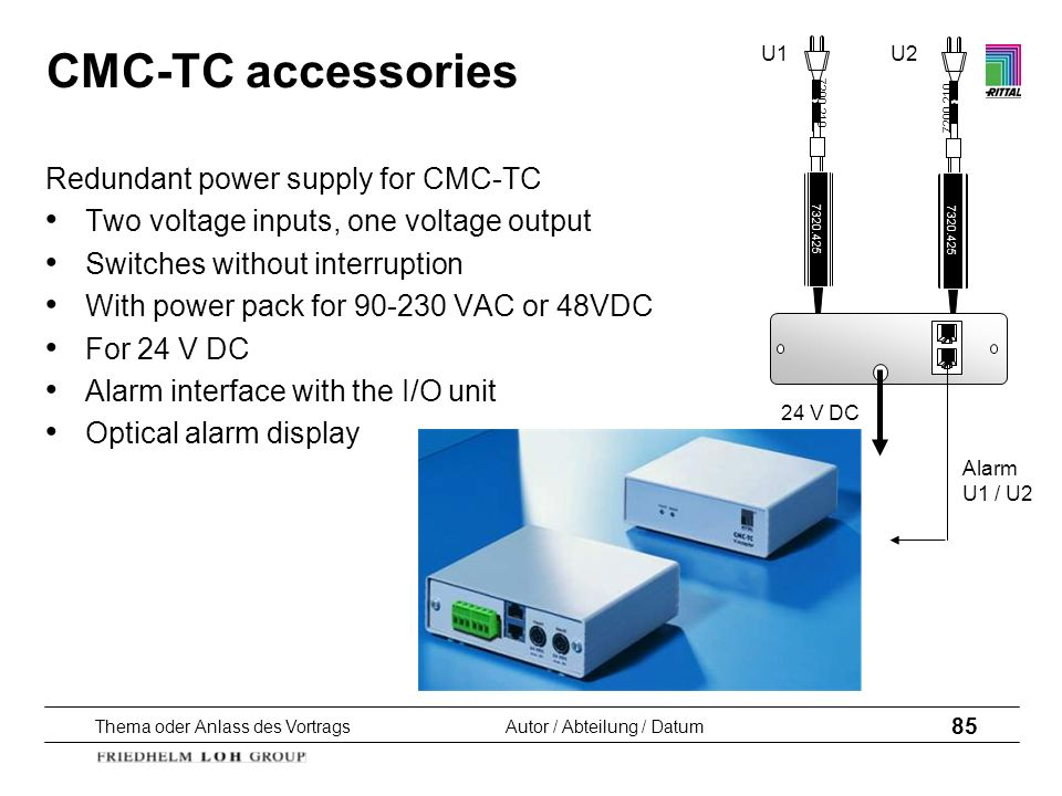 CMC-TC accessories Redundant power supply for CMC-TC