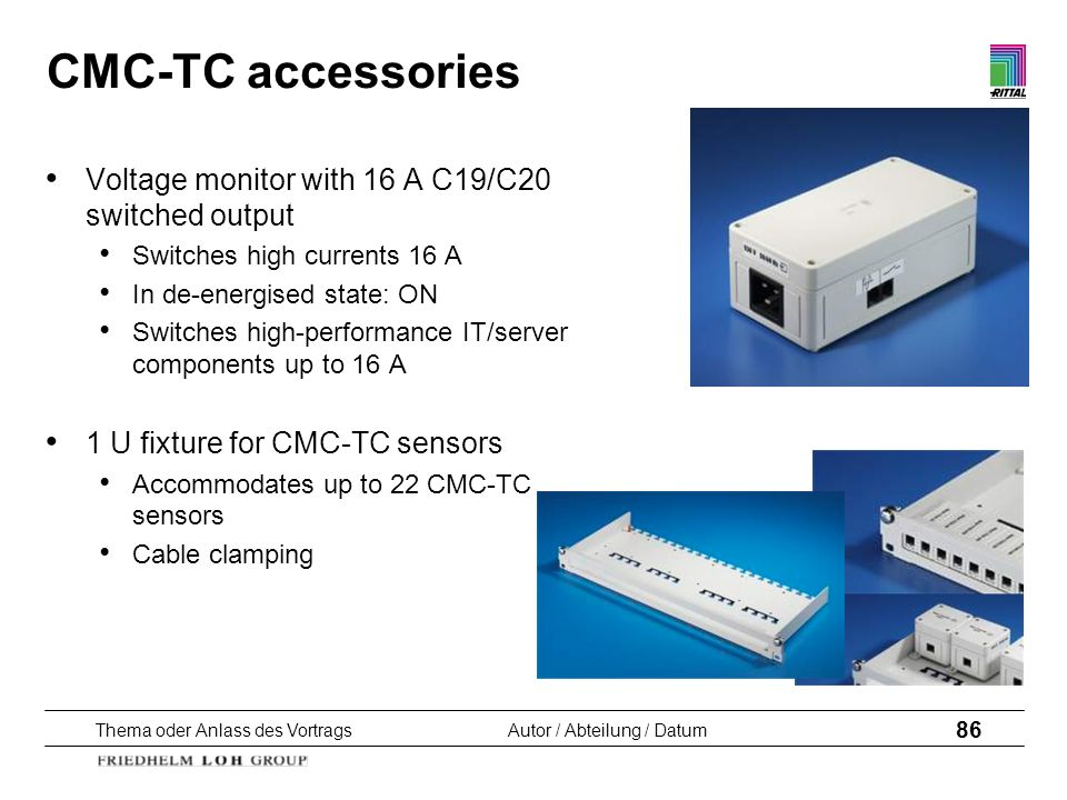 CMC-TC accessories Voltage monitor with 16 A C19/C20 switched output