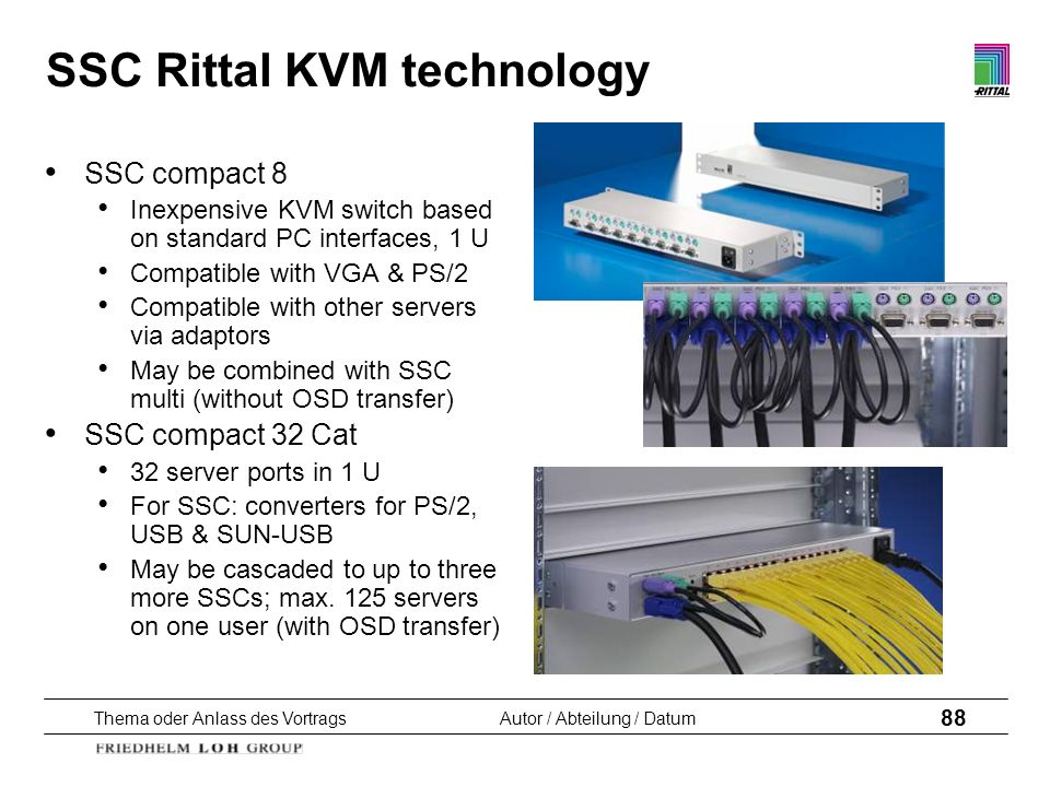 SSC Rittal KVM technology